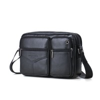 1001 Meigardass genuine leather messenger bags for men crossbody shoulder bags handbags man cowhide black