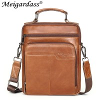 Meigardass brand made in china genuine leather bags for men small shoulder bags messenger bag male