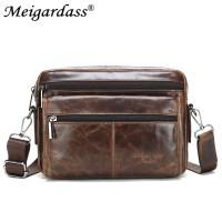 Genuine Leather Bag top-handle Men Bags Male Shoulder Crossbody Bags Messenger Small Flap Casual Handbags Men Leather Bag
