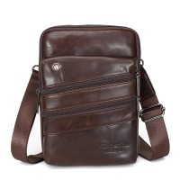 6005 Meigardass Men's Genuine Leather Cowhide Vintage Messenger Bag Shoulder Bag Crossbody Bag