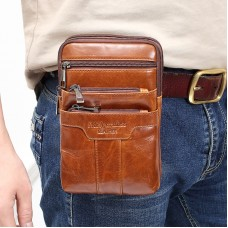 MEIGARDASS genuine leather small shoulder bags for men mini waist belt bags male messenger bags crossbody 7 inch phone case