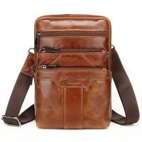 6051-2 Meigardass genuine leather shoulder bags for men crossbody handbags male cowhide scatch purse ipad holder