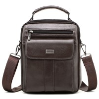 cheer soul brand genuine leather shoulder bags for men small messenger bags male handbags