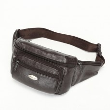 7220 CHEER SOUL genuine leather belt waist bags for men strap outdorr fanny packs chest bags