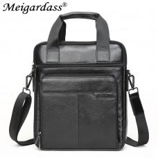 7512 Genuine leather shoulder bags for men document laptop briefcase male handbags computer bags messenger bags